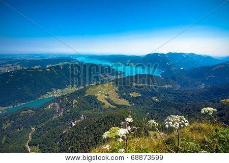 Attersee Lake View From Schafber Peak