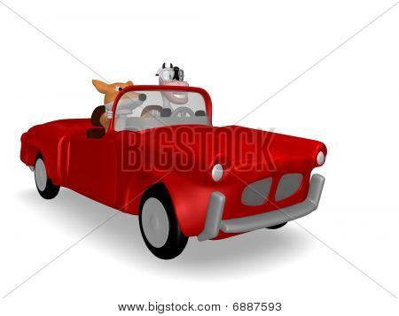 cow and fox car