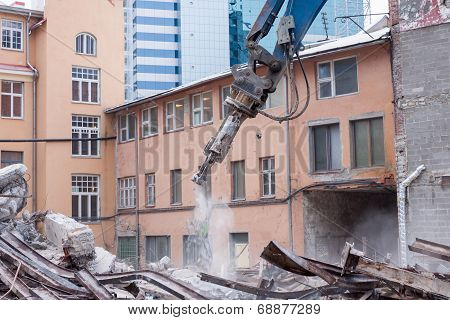 Demolition Truck In Action