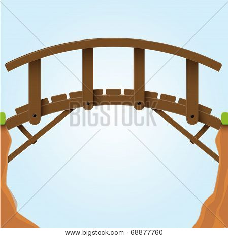 Vector illustration. Bridge.