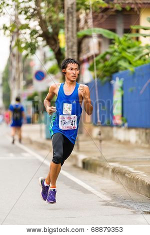 Running Athlete In Mini-marathon Race