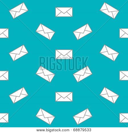 Mail Envelope Web Icon. Seamless Pattern. Vector Background.