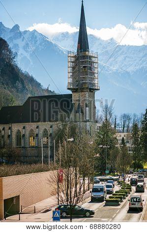 St. Florins Parish Church In Vaduz