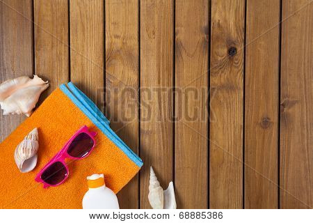 Beach Scene With Wood Decking