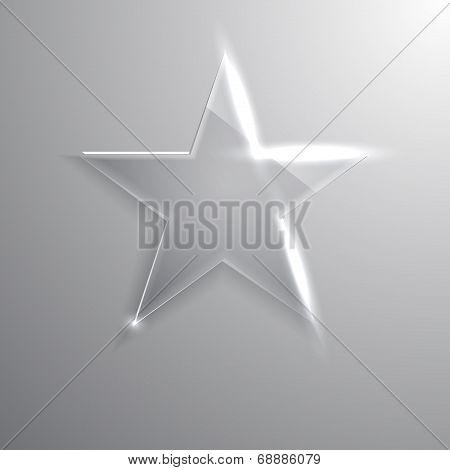 frame glass star. Vector illustration. Eps10