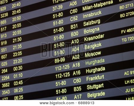 Airport Delay Sign, Flight Schedule, Airline, display