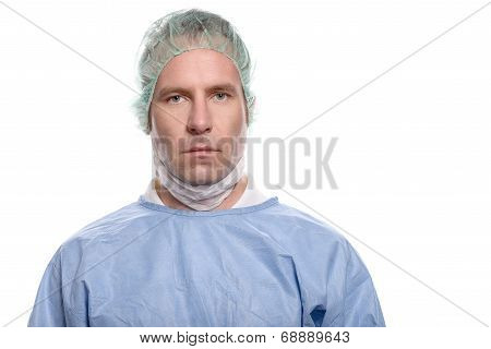 Nurse Or Doctor In Surgical Scrubs