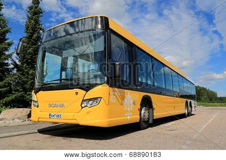 Yellow Scania Citywide Bus