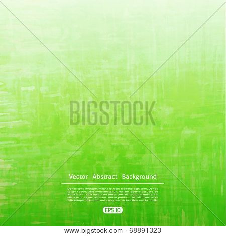 Vector green watercolor texture. Grunge template for your design.