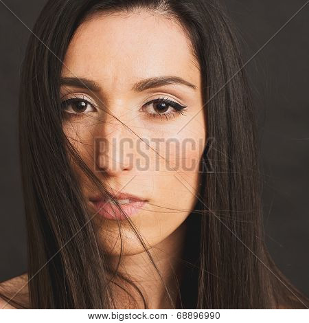 Brunette woman stock photo