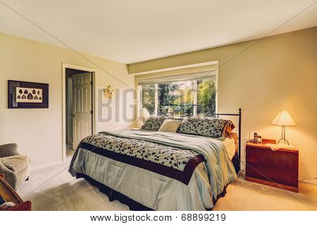 Bedroom Interior With Iron Frame Bed