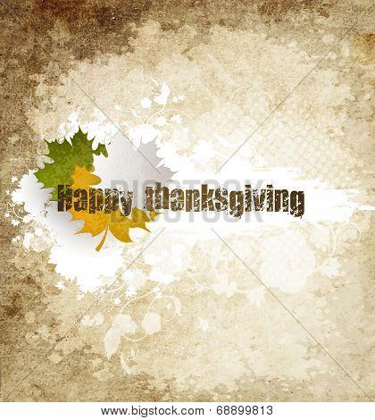Grunge Happy Thanksgiving