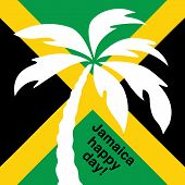 image of rastaman  - Jamaica happy day Greeting card - JPG