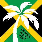 stock photo of rastaman  - Jamaica happy day Greeting card - JPG