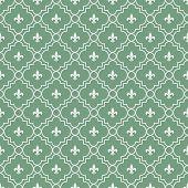 pic of fleur de lis  - White and Green Fleur - JPG