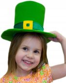 image of st patrick  - A young Irish girl with her St. Patrick