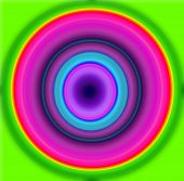 foto of hypnotizing  - Nice Hypnotic multicolor and blur circles pattern - JPG