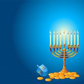 stock photo of hanukkah  - Jewish festival of Hanukkah - JPG
