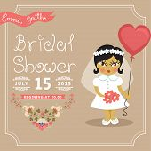 Постер, плакат: Bridal Shower invitation
