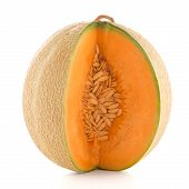 picture of honeydew melon  - Juicy honeydew melon on a white background - JPG