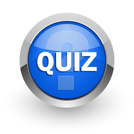 stock photo of quiz  - quiz blue glossy web icon - JPG