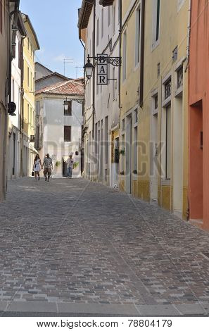 Quite Street In Italian Village