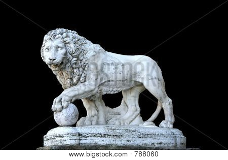 Lion sculpture - isolated on background