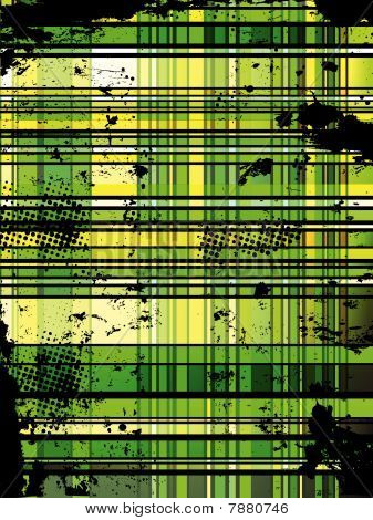 Checkered Green Grunge Background
