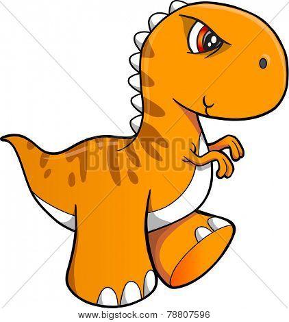 Tough Dinosaur Vector Illustration Art