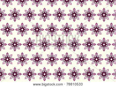 Red Tribal Bloom And Lobe Pattern On Pastel Background