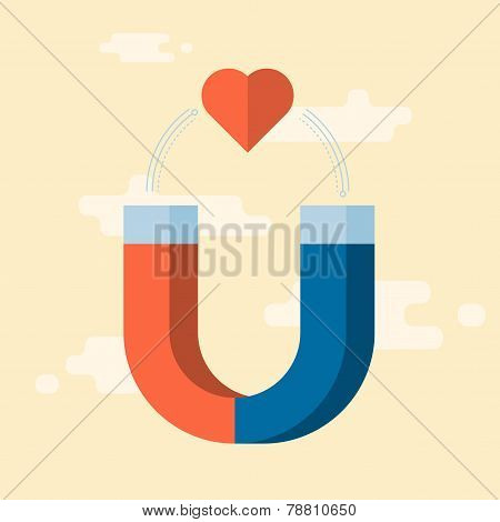 vector love attraction, concept illustration