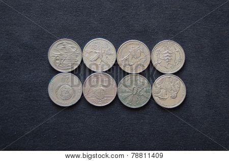 Australian 20 cent coins.