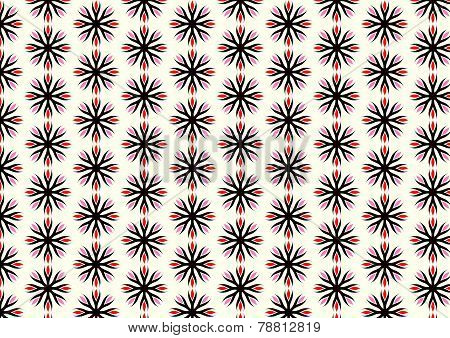 Red Retro Roots Or Flower Pattern On Pastel Background