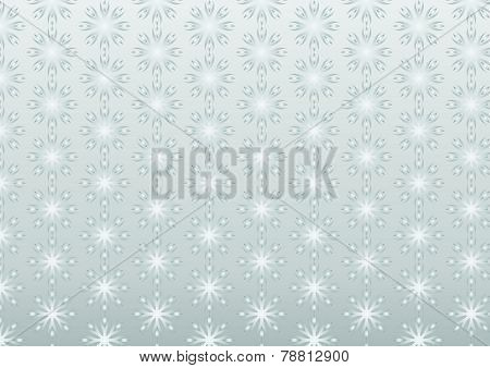 Silver Retro Roots Or Flower Pattern On Pastel Background