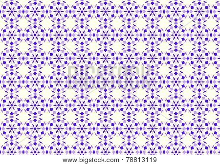 Purple Abstract Flower Ball And Rhomboid Pattern On Pastel Background