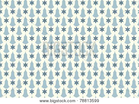 Gray Retro Flower And Candlestick Pattern On Pastel Background