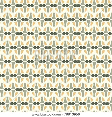 Orange Sweet Easter Eggs Pattern On Pastel Background