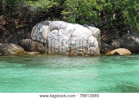 Scenic Views Of The Coastline Of Archipelago Koh Lipe Island