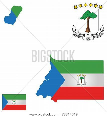 Republic of Equatorial Guinea Flag