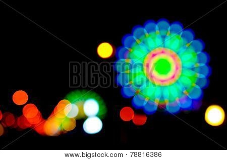 Abstract Colorful Flower Bokeh
