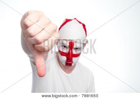 England Fan Doing Thumbs Down