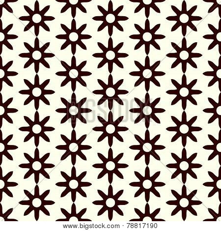 Brown Retro Dry Flower Pattern On Pastel Color