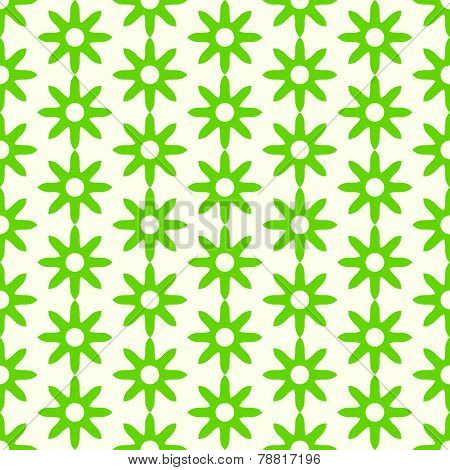 Green Retro Dry Flower Pattern On Pastel Color