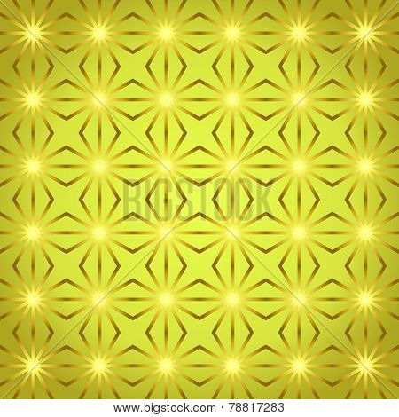 Gold Rhomboid And Circle Pattern On Pastel Color