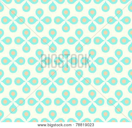 Blue Sweet Flower And Pollen On Pastel Background