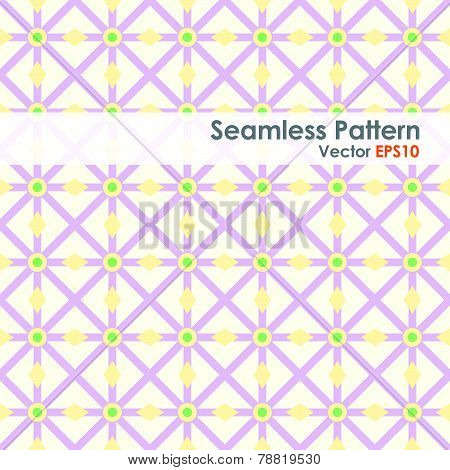 Purple Asterisk And Circle And Triangle Seamless Pattern