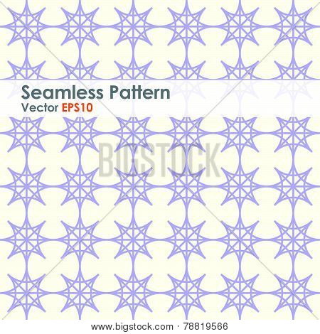 Purple Double Star And Circle Seamless Pattern On Pastel Color