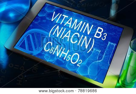 the chemical formula of vitamin B3 (niacin)