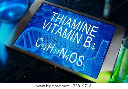 the chemical formula of Thiamine (vitamin B1)