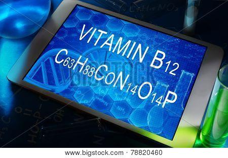 the chemical formula of vitamin B12
